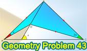 Problema 43: Ángulos en triángulos y cuadrilátero, 60 grados.