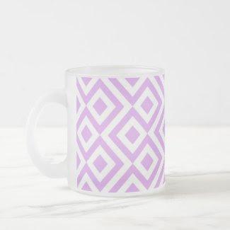 Lavender and White Meander Coffee Mug