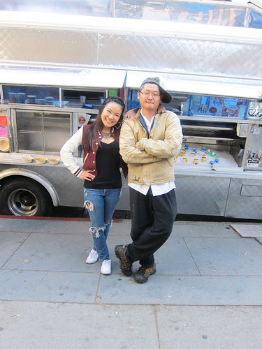 Checking out the Go Chew Food Truck