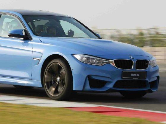 BMW M3 mid-corner