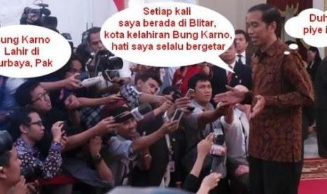 Meme Presiden Jokowi soal tempat lahir Bung Karno.