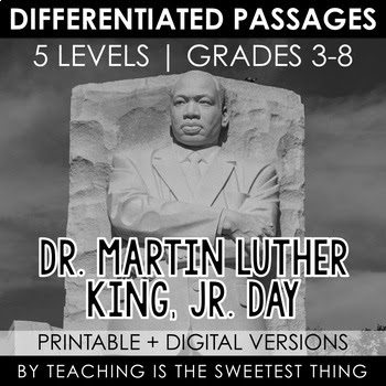 Martin Luther King, Jr. Day -  Close Reading Leveled S.S.