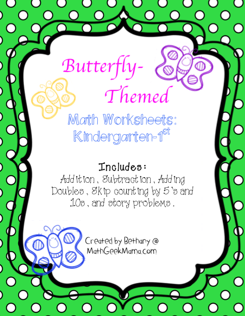 FREE Butterfly Math Worksheets - Blessed Beyond A Doubt