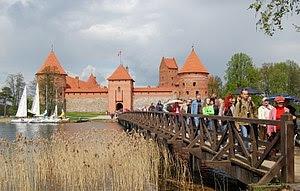 English: Trakai Island Castle, Lithuania durin...