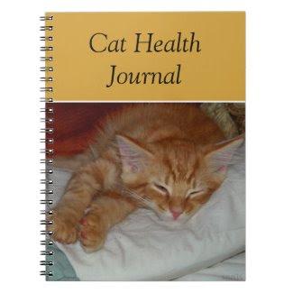 Cat Health Journal Notebook