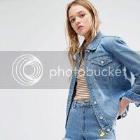 Daisy Street – Übergroße Truckerjacke aus Jeans