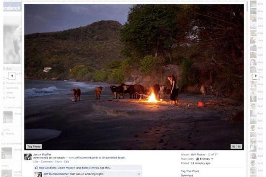 As fotos terão o fundo branco durante a sua visualização / Reprodução/Facebook