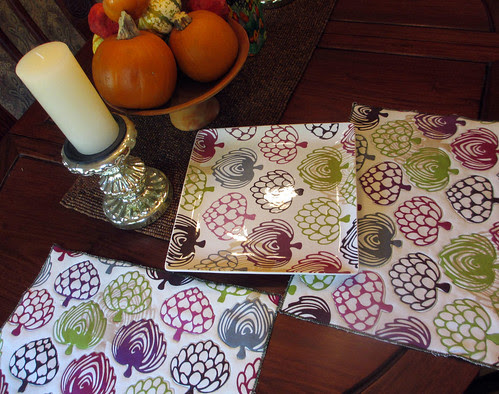 dish cloths to place mat