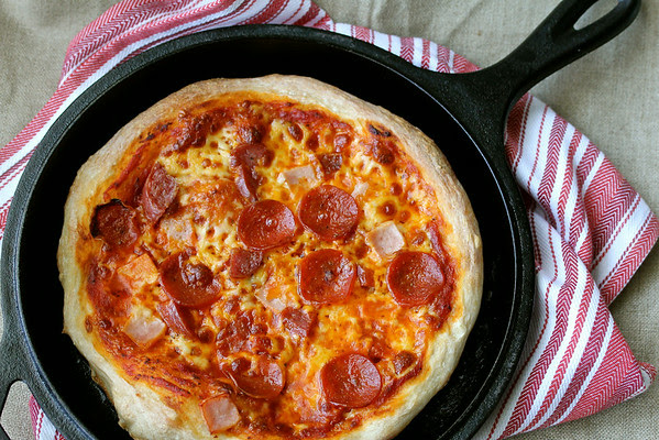 Skillet Pizza from Karen's Kitchen Stories