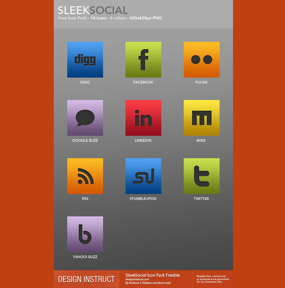 SleekSocial Icon Pack