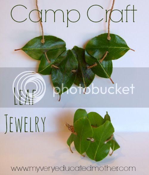 #CampCraft Leaf Jewelry  #kidsactivity #kidscraft #craftlightning
