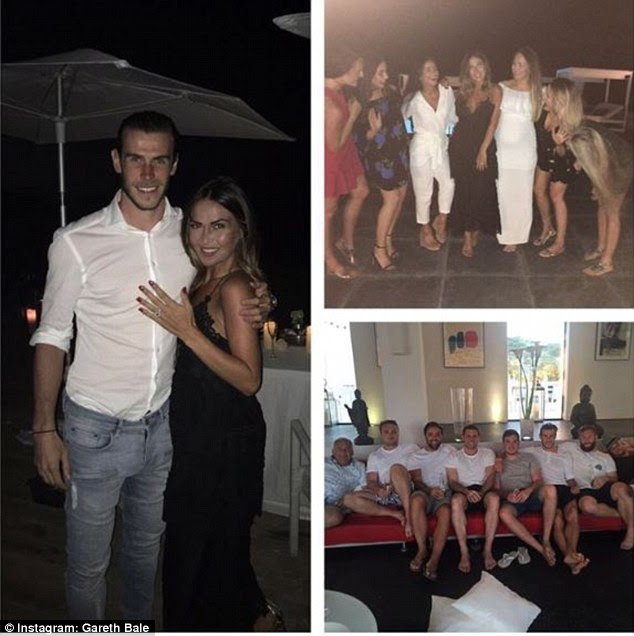 Bale confirmed the news saying: 'She said yes!! This is a birthday weekend I won't forget for a long time'