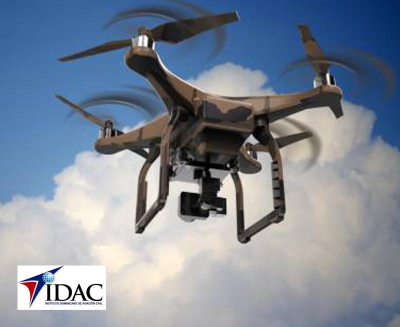 Dron con logo IDAC