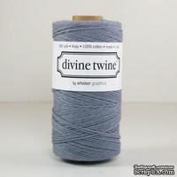 Хлопковый шнур от Divine Twine - Gray Solid, 1 мм, цвет серый, 1м - ScrapUA.com