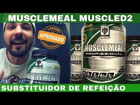 MUSCLEMEAL MUSCLED2 O Substituidor de Refeições com Whey Protein Glutamina BCAA Vitaminas e MCT