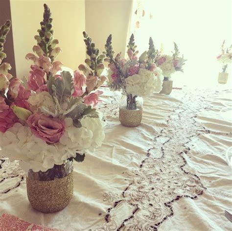 DIY Glitter Mason Jar Vase   Mason Jar Bridal Shower
