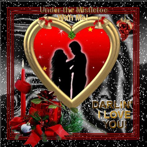 Under The Mistletoe With Me! Free I Love You eCards