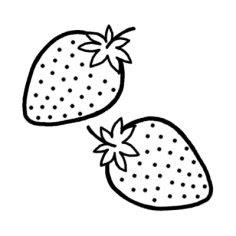 いちご 果物のぬりえ塗り絵素材画像集 Naver まとめ