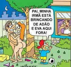 Brincando de Adão e Eva!