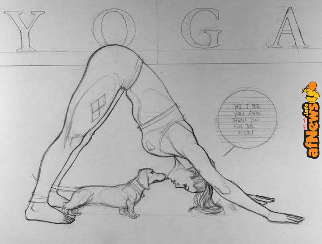 Harley Quinn Performs The Downward Dog For Frank Cho