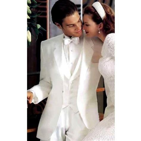 mens white  gold wedding tuxedos images