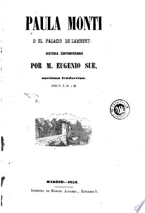 Paula Monti, ó, El palacio de Lambert