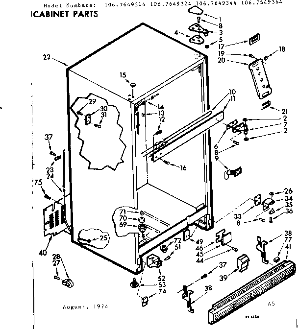 Kenmore Coldspot Model 106 Parts Diagram