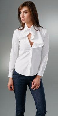 McQ - Alexander McQueen Ruffle Collar Blouse