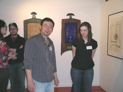 Artists at the opening of Text