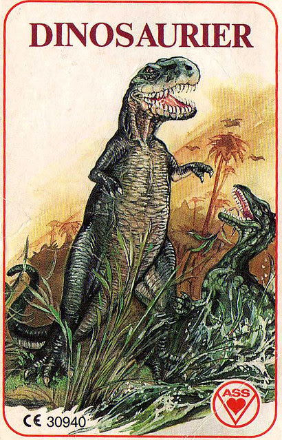 dinosaurier trading cards
