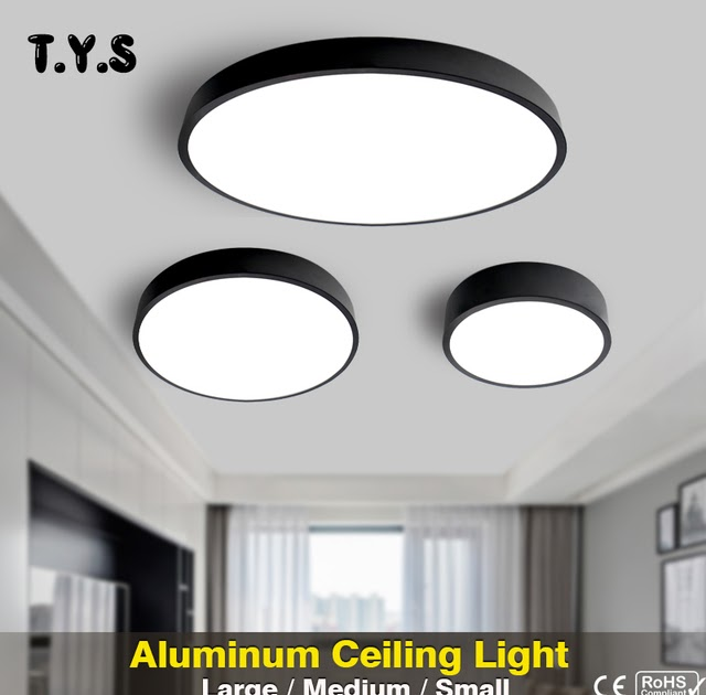 LED Ceiling Down Light Flush Mount Kitchen Bedroom Fixture Lamp Dimmable 72W 48W
