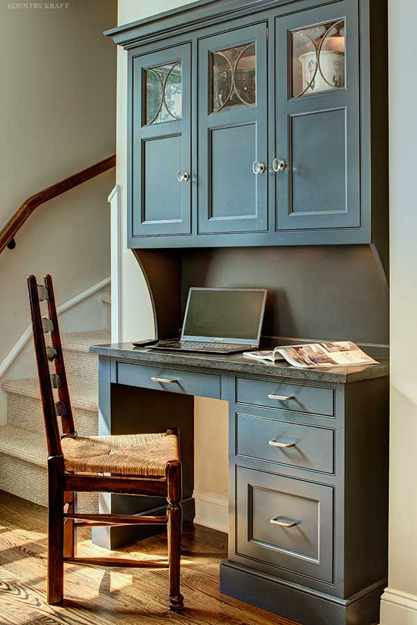Custom Wood Desk Cabinets in Short Hills, New Jersey