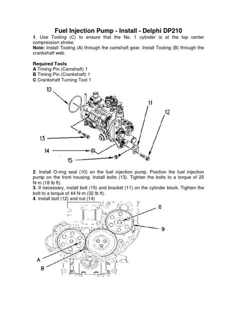 Delphi DP210 Fuel Injection Pump Cat