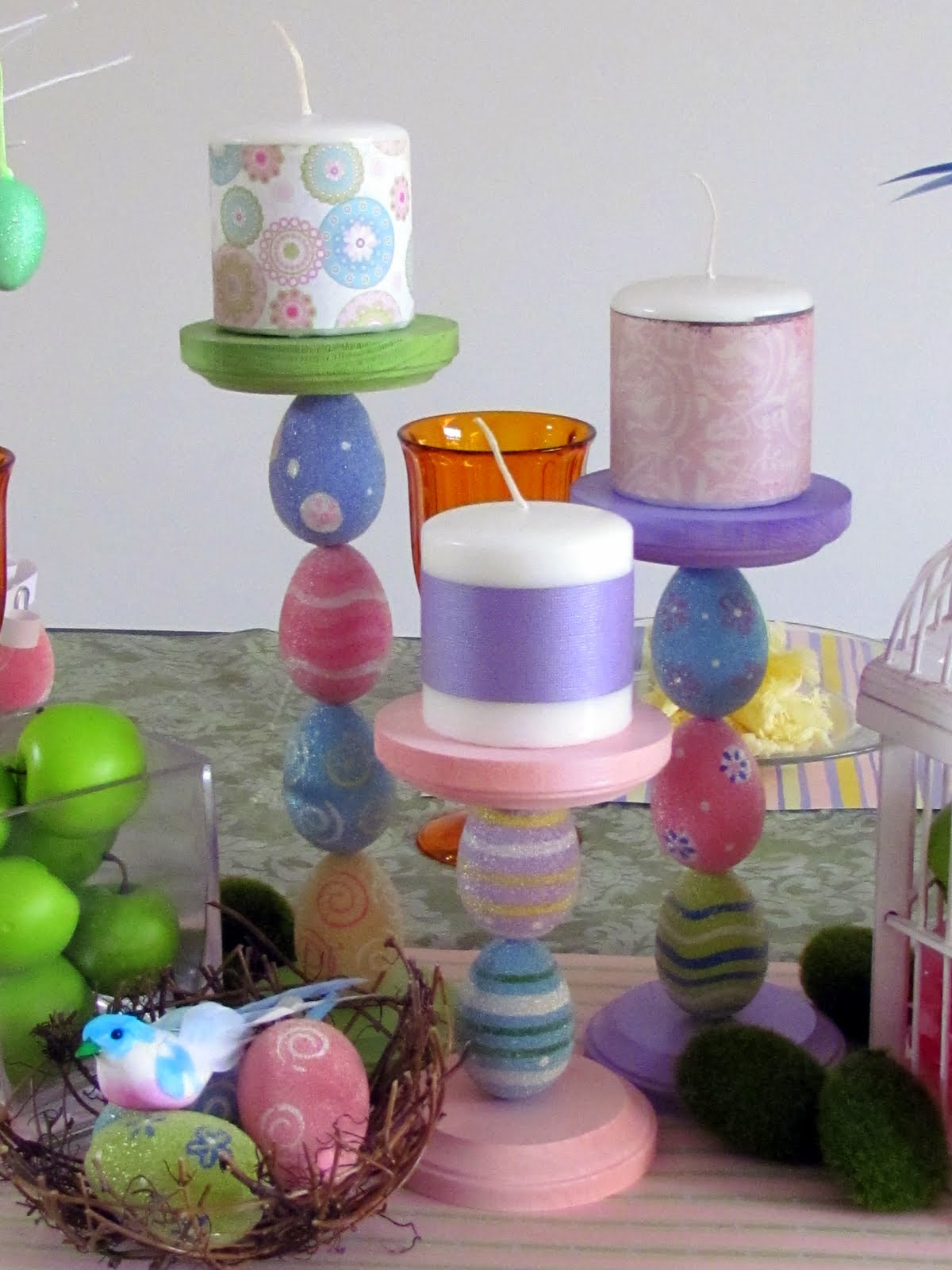 Easter Egg Candle Holders | Fun Family Crafts