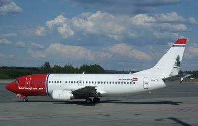 Norwegian Air Shuttle website