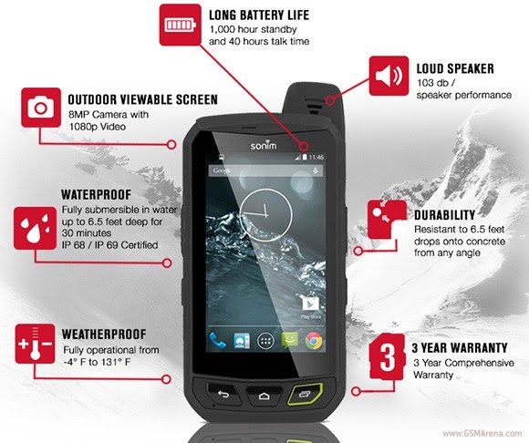 sonim xp7 LTE rugged smartphone