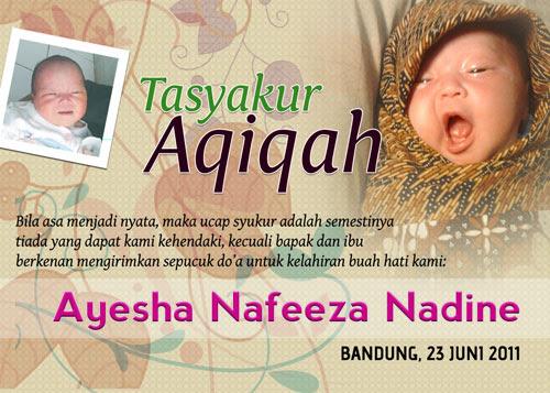 Contoh Undangan Aqiqah Dan Tasmiyah