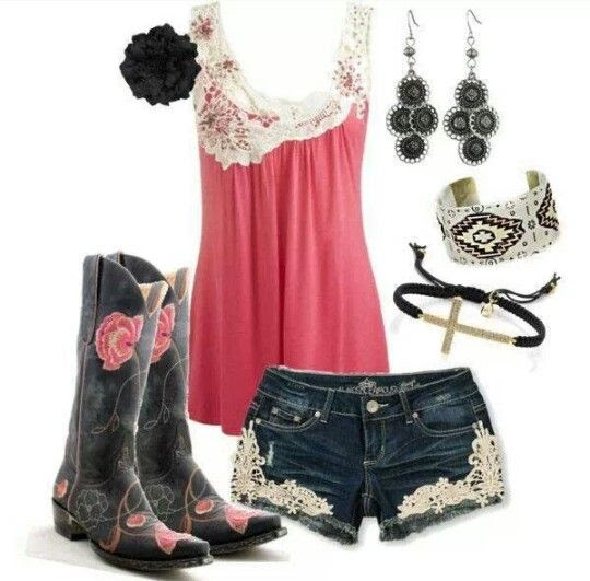 summer country girl outfit  country life  pinterest