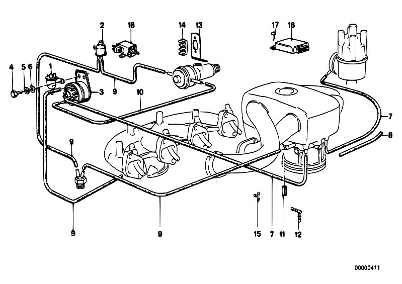 1987 E 30 325 I Engine Diagram
