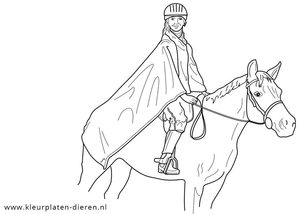 Kleurplaat Galopperend Paard Hartje Met Vleugels Kleurpl Kleurplaat Paard Disun