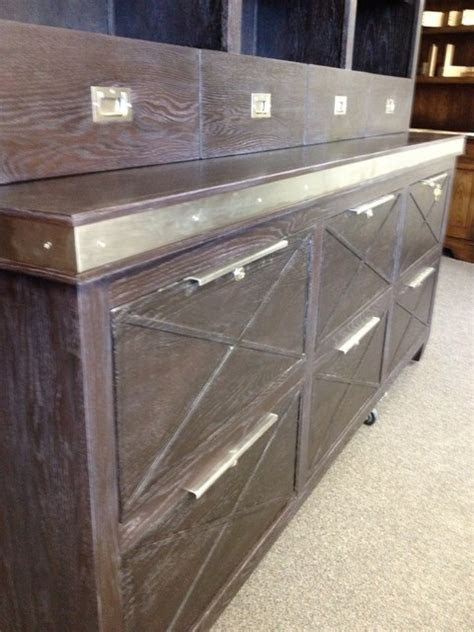 contemporary credenza  stainless accents  file