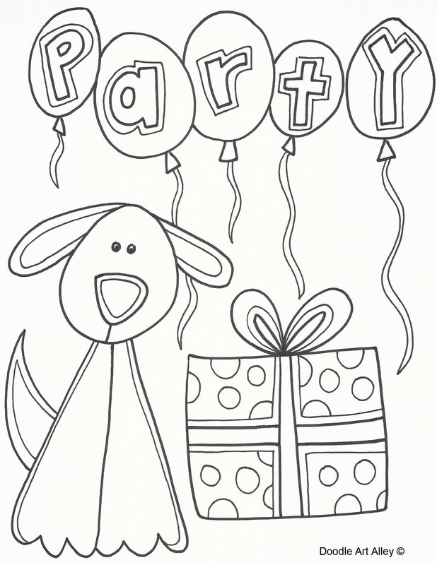 Dog Birthday Coloring Pages at GetColorings.com | Free ...