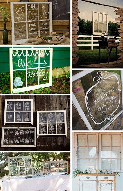 creative and easy table card ideas .old window frames
