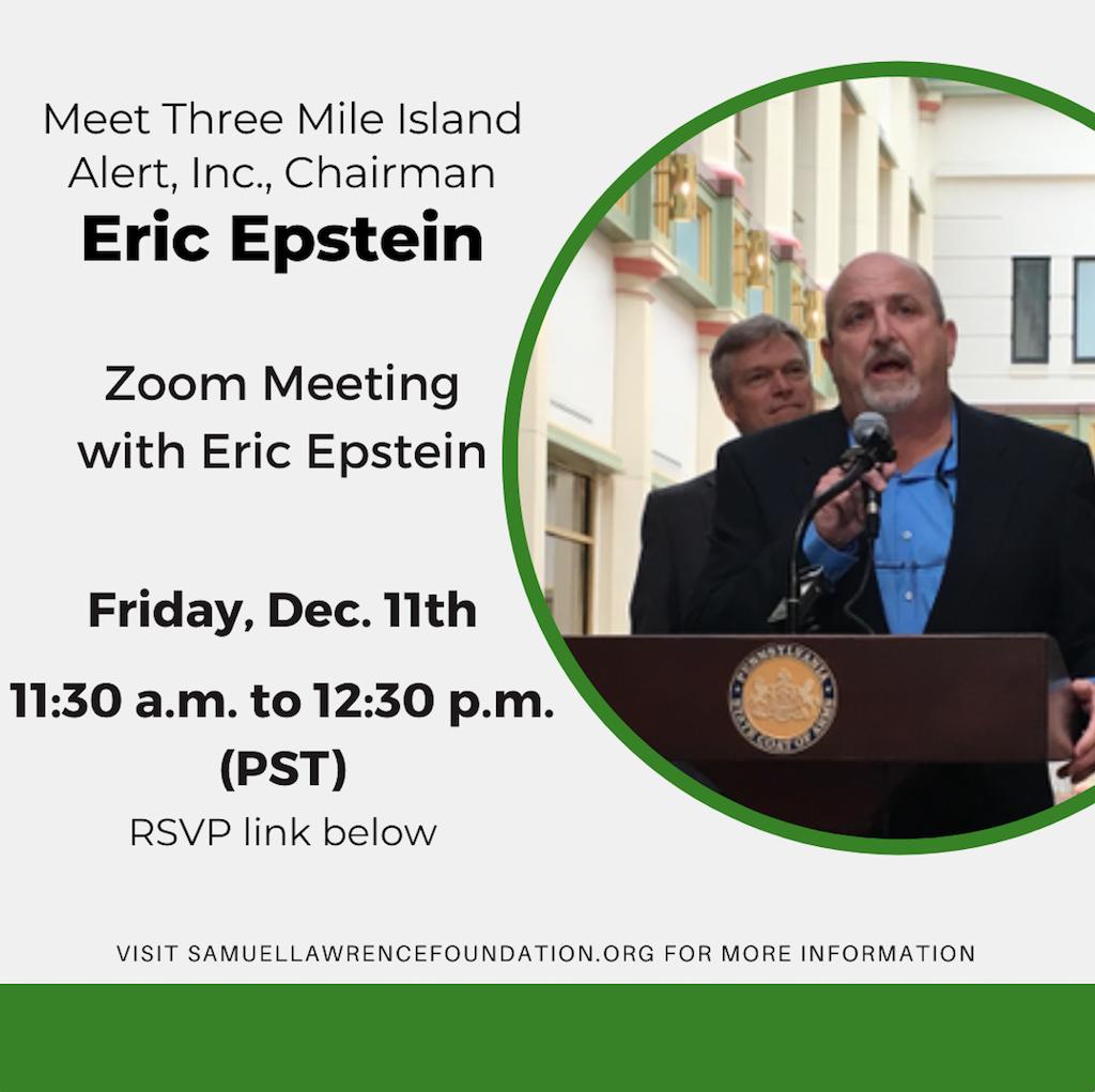Meet Three Mile Island Alert, Inc., Chairman Eric Epstein