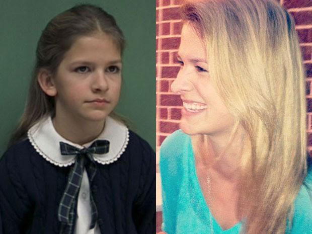 Jordan-Claire Green em 'Escola de rock' e em foto de 2012 (Foto: Divulgação/Facebook da atriz)