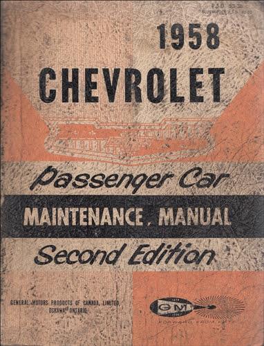 1958 Chevrolet Car Wiring Diagram Manual Reprint