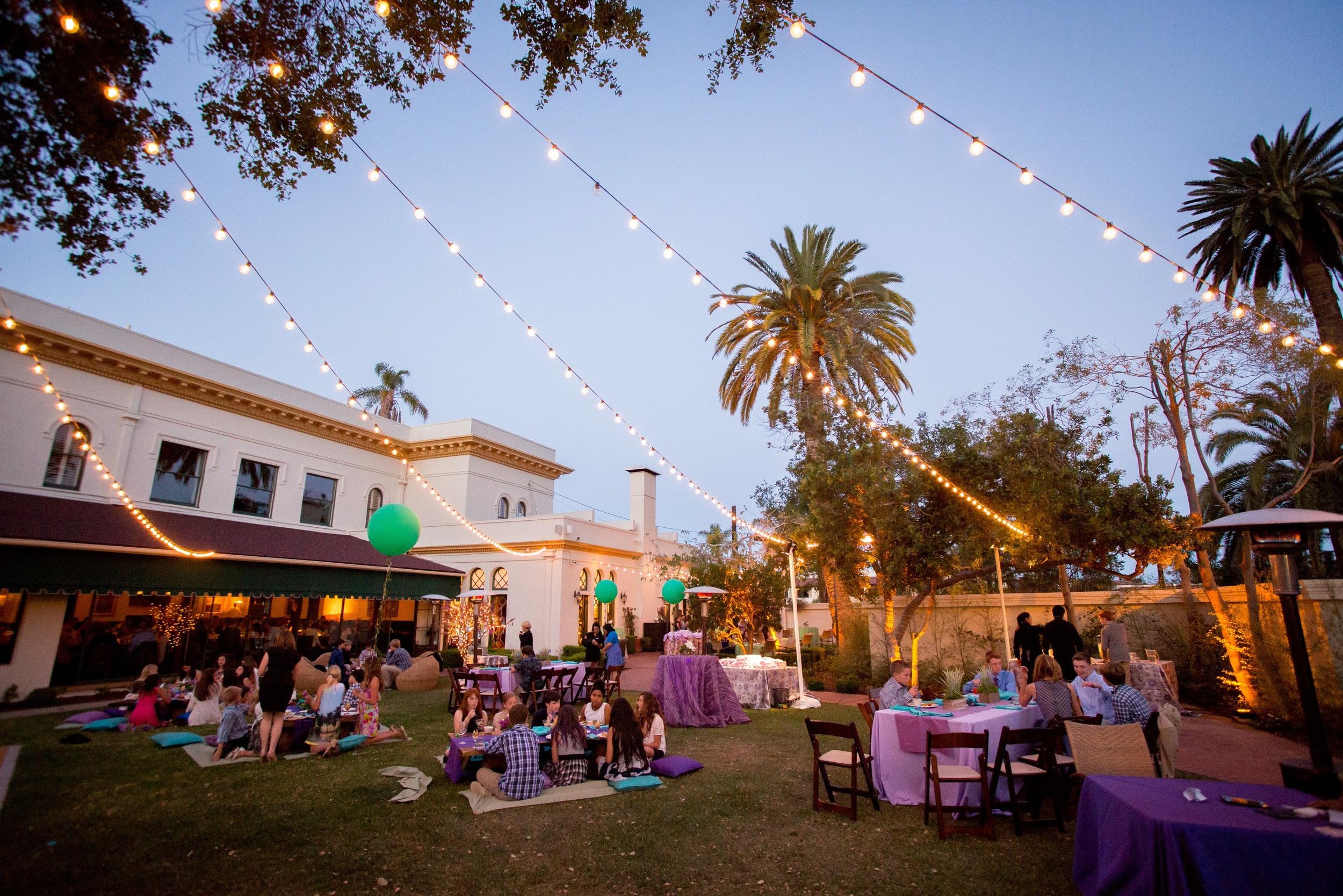 Felici Events Blue Purple Teal Bat Mitzvah Garden Party Appeal