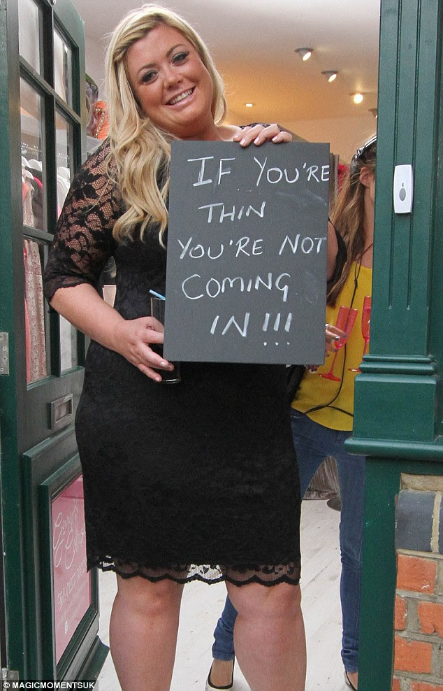 Not sticking to her word: Gemma Collins is the latest TOWIE star to open up her own shop in Essex, launching the store on Thursday night with her slim castmates in tow