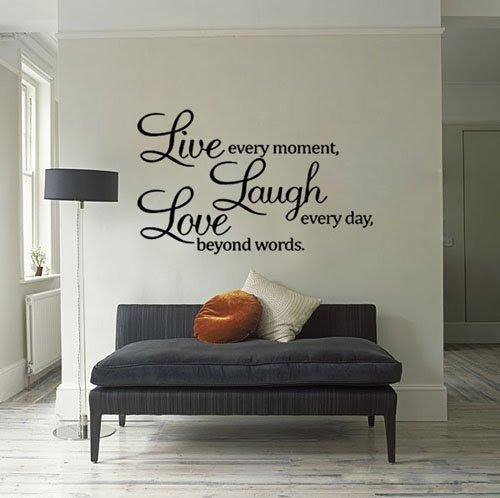 Wholesale Live Laugh Love Wall Quote Vinyl Sticker Wall Decor Art ...