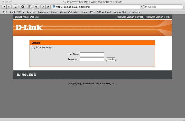 D-Link login